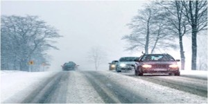 Driving in snow weather conditions