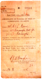 First Driving Test Pass Certificate