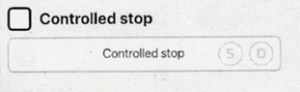 Controlled Stop